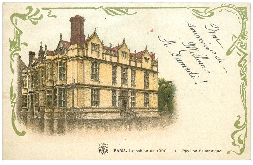 carte postale ancienne PARIS EXPOSITION UNIVERSELLE 1900. Pavillon Britannique