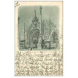 carte postale ancienne PARIS EXPOSITION UNIVERSELLE 1900. Porte Place Concorde. Timbre 10 centimes 1900