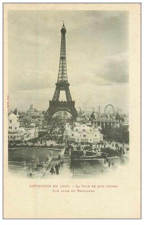 carte postale ancienne PARIS EXPOSITION UNIVERSELLE 1900. Tour Eiffel