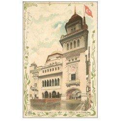 carte postale ancienne PARIS EXPOSITION UNIVERSELLE 1900. Turquie. Timbre 5 Centimes 1904