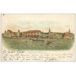 carte postale ancienne PARIS EXPOSITION UNIVERSELLE 1900. Vieux Paris. Timbre 10 Centimes 1900