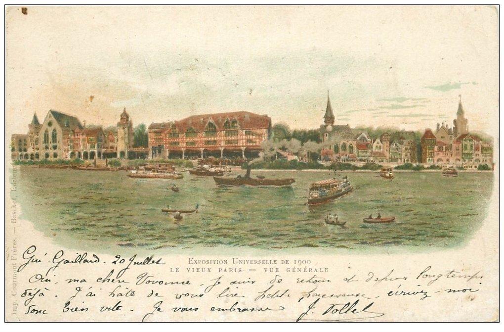 PARIS EXPOSITION UNIVERSELLE 1900. Vieux Paris. Timbre 10 Centimes 1900