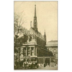 carte postale ancienne PARIS I°. Attelage livraison Quinquina Saint-Raphaël devant Sainte-Chapelle