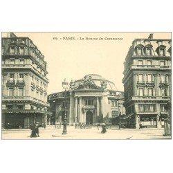 carte postale ancienne PARIS I°. Bourse de Commerce n°69 Grand Café