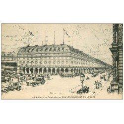 carte postale ancienne PARIS I°. Grands Magasins du Louvre 1929