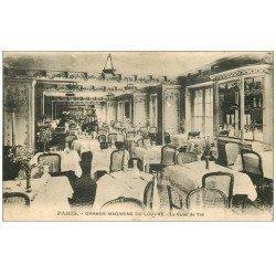 carte postale ancienne PARIS I°. Grands Magasins du Louvre. Salon de Thé 1930