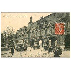 carte postale ancienne PARIS I°. Guichets du Carrousel 1912 Autobus Ford ancien
