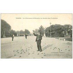 carte postale ancienne PARIS I°. Jardin Tuileries Chameur d'Oiseaux. Vieux Métiers