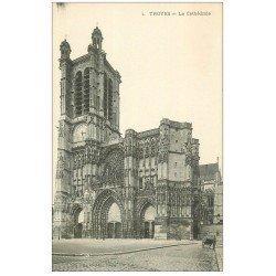 carte postale ancienne 10 TROYES. Cathédrale Saint-Pierre et Paul. Edition Gris librairie