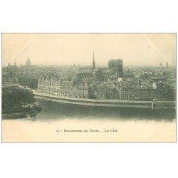 carte postale ancienne PARIS I°. La Cité n°4 vers 1900