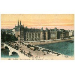 carte postale ancienne PARIS I°. La Conciergerie 1924