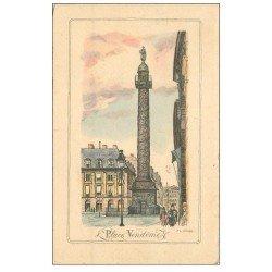 PARIS 01. La Place Vendôme 1945 par Scribe
