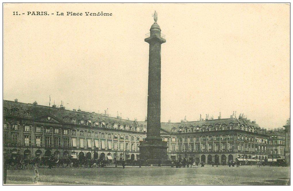 carte postale ancienne PARIS I°. La Place Vendôme n°11