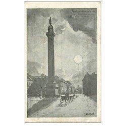 carte postale ancienne PARIS I°. La Place Vendôme. Publicité Comptoir Cardinet