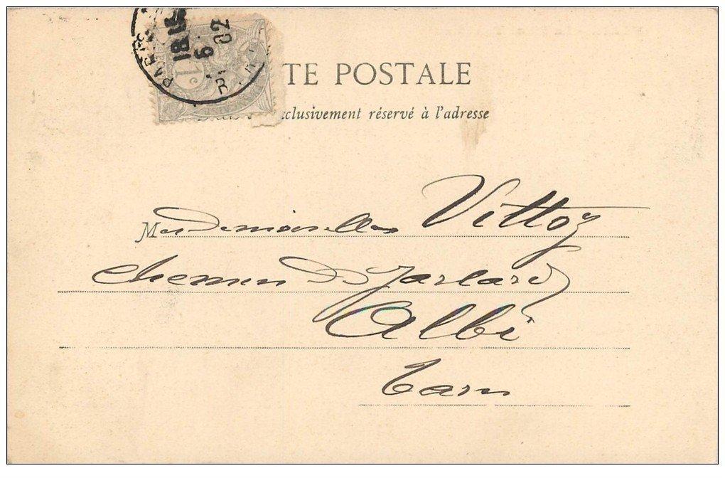 carte postale ancienne PARIS I°. La Place Vendôme. Timbre 1 Centime 1902