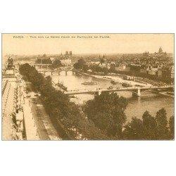 PARIS 01. La Seine vue du Pavillon de Flore 1915