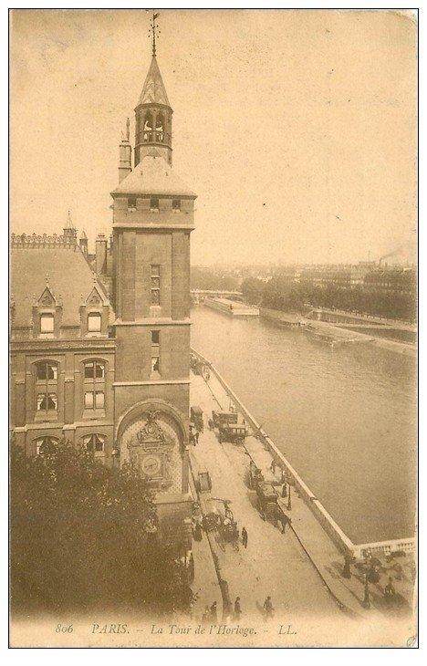 carte postale ancienne PARIS I°. La Tour de l'Horloge 1906