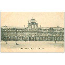 carte postale ancienne PARIS I°. Le Louvre Musée