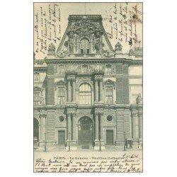 carte postale ancienne PARIS I°. Le Louvre Pavillon Colbert 1902