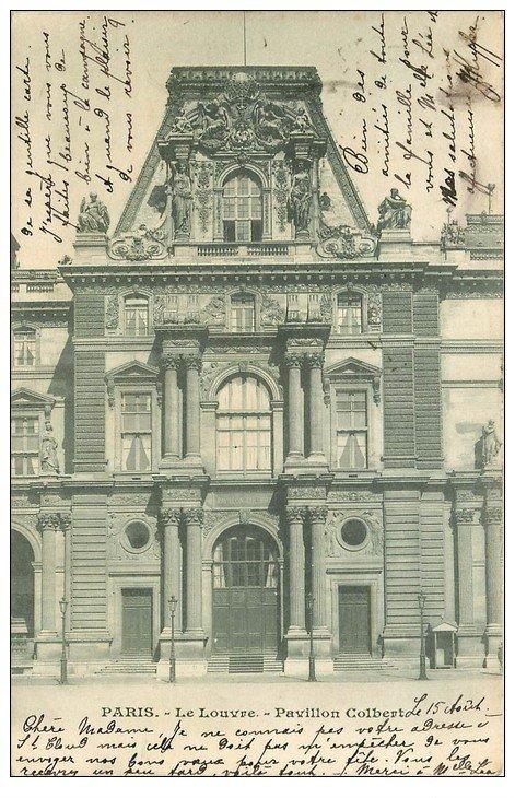 PARIS 01 Le Louvre Pavillon Colbert 1902