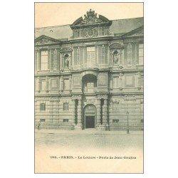 carte postale ancienne PARIS I°. Le Louvre Porte Jean Goujon