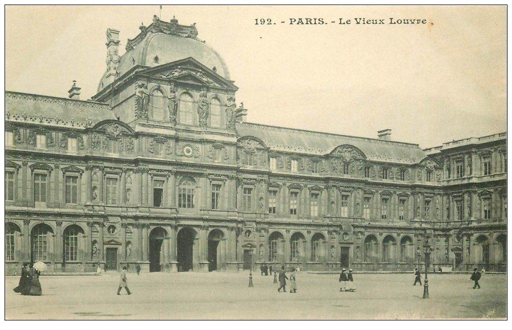 carte postale ancienne PARIS I°. Le Louvre Vieux
