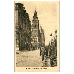 carte postale ancienne PARIS I°. Le Marché aux Fleurs