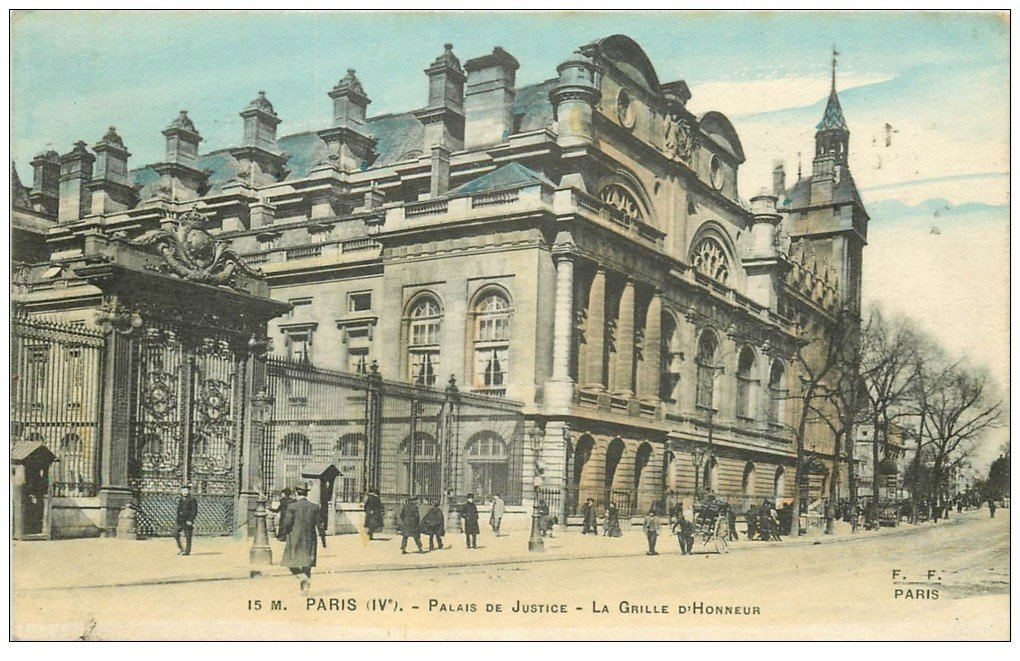 carte postale ancienne PARIS I°. Le Palais de Justice 1916
