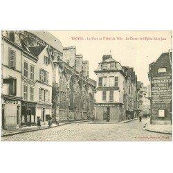 carte postale ancienne 10 TROYES. Chevet place de l'Hôtel de Ville 1916