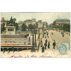 carte postale ancienne PARIS I°. Le Pont Neuf 1906