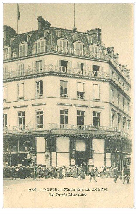 PARIS 01. Magasin du Louvre la Porte Marengo vers 1900