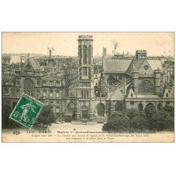 carte postale ancienne PARIS I°. Mairie d'arrondissement 1912