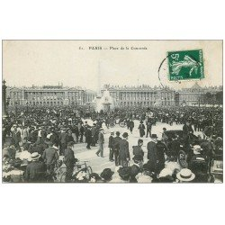 carte postale ancienne PARIS I°. Place de la Concorde 1908