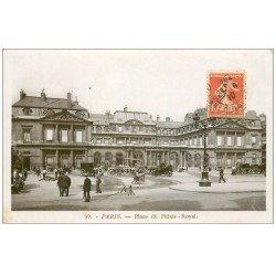PARIS 01. Place du Palais Royal 1910 carte photo