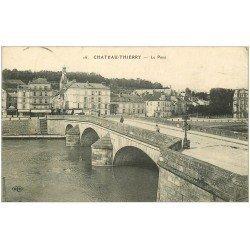 carte postale ancienne 02 CHATEAU-THIERRY. Le Pont 1914
