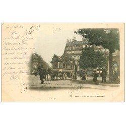 PARIS 01 Place du Théâtre Français Hippomobile à Impériale 1900