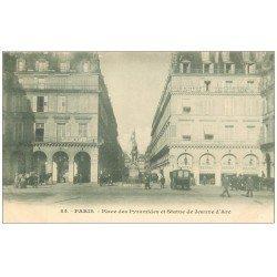 PARIS 01. Place Pyramides Statue Jeanne d'Arc Hôtel Regina