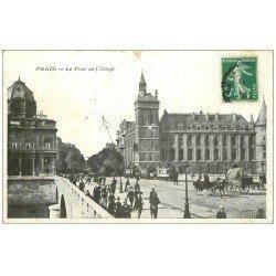 carte postale ancienne PARIS I°. Pont au Change 1908