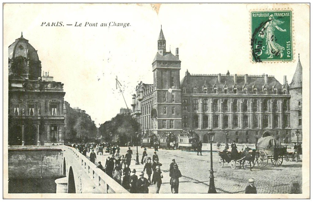 PARIS 01. Pont au Change 1908
