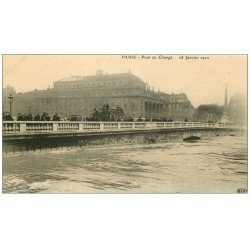carte postale ancienne PARIS I°. Pont au Change inondations 1910