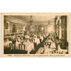 carte postale ancienne PARIS I°. Restaurant Léon Royal 202 rue Saint-Honoré