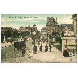 carte postale ancienne PARIS I°. Rue des Pyramides 1910