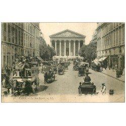 PARIS 01. Rue Royale Transport Hippomobile à Impériale 1906