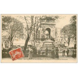 carte postale ancienne PARIS I°. Square et Fontaine des Innocents 1909