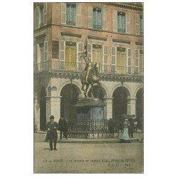 carte postale ancienne PARIS I°. Statue Jeanne d'Arc Place Rivoli