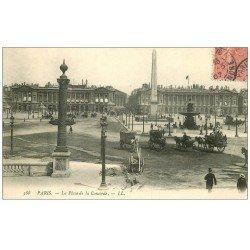 carte postale ancienne PARIS I°. Travaux de Chaussée Place de la Concorde 1907