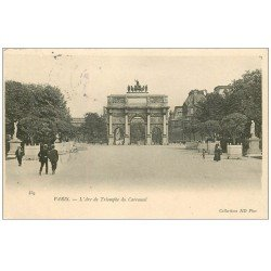 carte postale ancienne PARIS Ier. Carrousel Arc Triomphe 1906