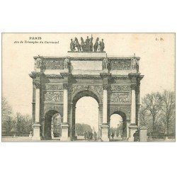carte postale ancienne PARIS Ier. Carrousel Arc Triomphe 1919