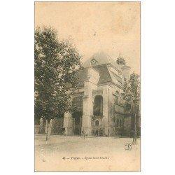 carte postale ancienne 10 TROYES. Eglise Saint-Nicolas 1904
