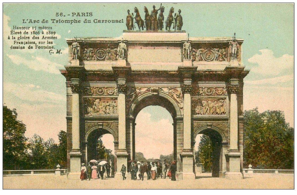 carte postale ancienne PARIS Ier. Carrousel Arc Triomphe n°56